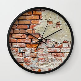 Old Brick Wall Wall Clock