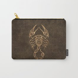 Vintage Rustic Scorpio Zodiac Sign Carry-All Pouch