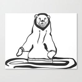 Sweatshirt Bear Canvas Print