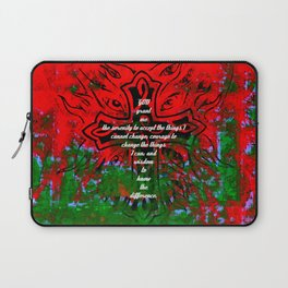 Serenity Prayer Inspirational Quote With Creative Motivational Art Laptop Sleeve