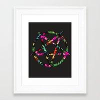 pentagram Framed Art Prints featuring Pentagram by YEAH RAD STOKED