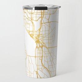 SEATTLE WASHINGTON CITY STREET MAP ART Travel Mug