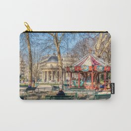 Parc Monceau panorama in winter - Paris Carry-All Pouch