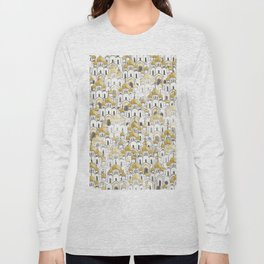 golden Russian cathedral church pattern Long Sleeve T-shirt