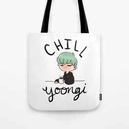Chill Min Yoongi Tote Bag