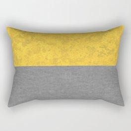 Mustard Yellow Concrete and Marble Granite Rectangular Pillow