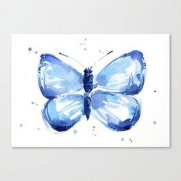 Butterfly Watercolor Blue Butterflies Canvas Print