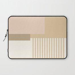 Sol Abstract Geometric Print in Tan Laptop Sleeve