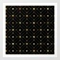 Black and gold modern geometric pattern by artonwear