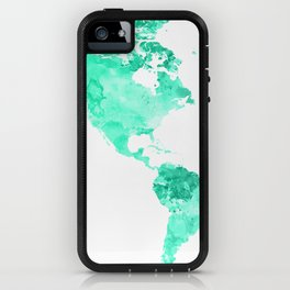 World Map Watercolor #2 iPhone Case