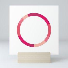 The Monochromatic Series: Pink Color Scheme Mini Art Print
