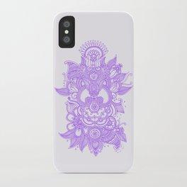 Purple Henna iPhone Case