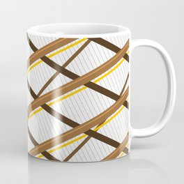 Deco Stripes Brown Coffee Mug