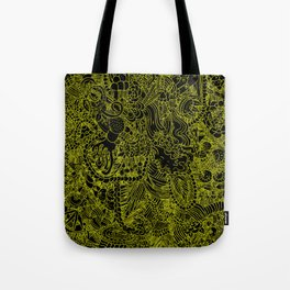 Black and Yellow Underbrush Tote Bag
