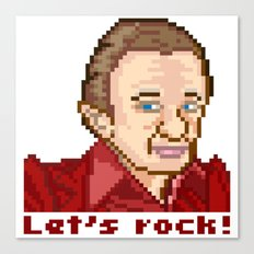 Let's rock! (Man From Another Place Pixel Art)  Canvas Print