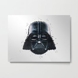 Darth Vader Geometric Digital Portrait Metal Print