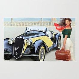 "Art Deco Bella ""ragazza"", Beautiful girl Rug"