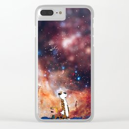 Calvin And Hobbes Nebula Clear iPhone Case