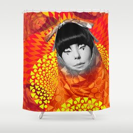 Supermodel Peggy 2 - Supermodels of the Sixties Series Shower Curtain