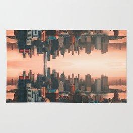New York City Skyline Surreal Rug