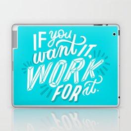 work for it Laptop & iPad Skin