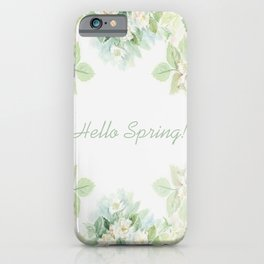 Spring floral watercolor painting & Quote iPhone Case