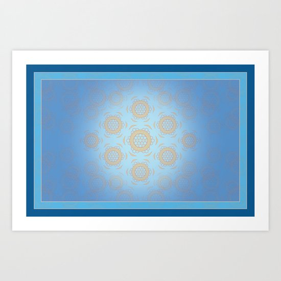 At Home in the Hive Art Print