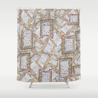 cookie monster Shower Curtains featuring Cookie by Kris alan apparel