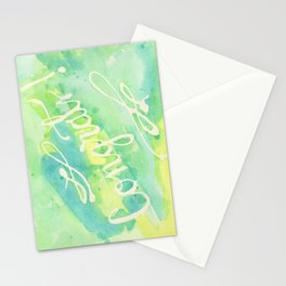 Say Congrats! in Blue, Green and Yellow Stationery Cards