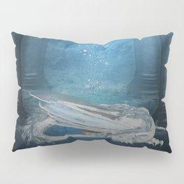 Awesome sleeping ice dragon Pillow Sham