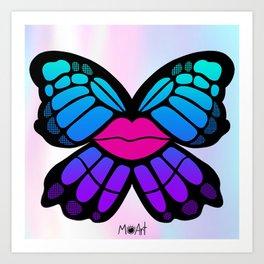 Social Butterfly Art Print