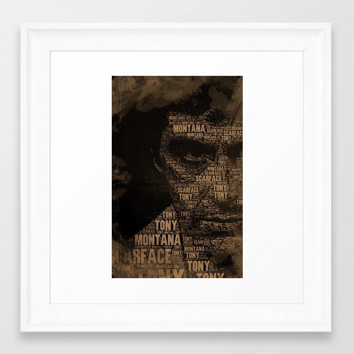 Scarface Framed Art Print by maximilian | Society6