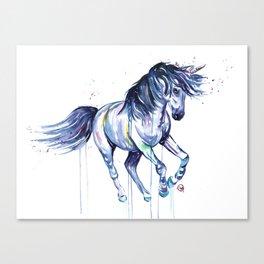Unicorn - Unicorn Dreams - Colorful Watercolor Unicorn Painting Canvas Print