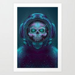 Scuba Skull Art Print