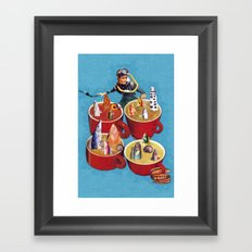 Fish Soup Framed Art Print