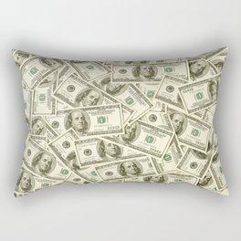 100 dollar bills Rectangular Pillow