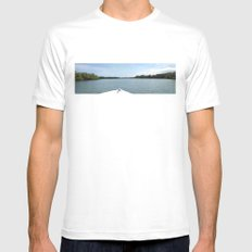 The Fisherman estuary Mens Fitted Tee MEDIUM White