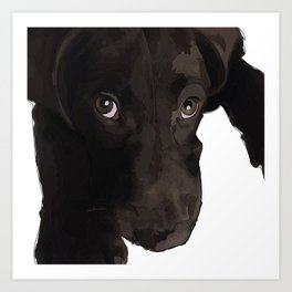 Chocolate Labrador Puppy Art Print