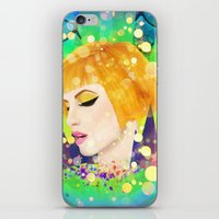 hayley williams iPhone & iPod Skins featuring Digital Painting - Hayley Williams - Variation by EmmaNixon92