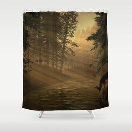 Sunrise Buck Shower Curtain