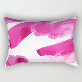Pink Abstract I Rectangular Pillow