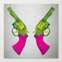 guns Canvas Prints featuring Play Guns by kakin