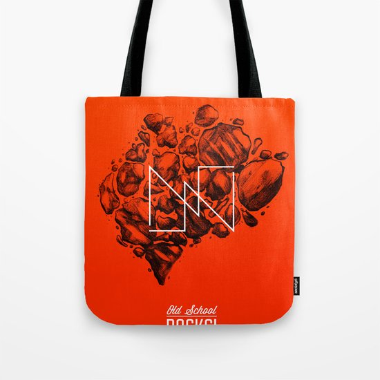 Old School Rocks (Orange Rock Version) Tote Bag