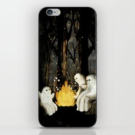 Marshmallows and ghost stories iPhone Skin