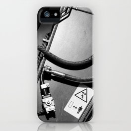 Arm of Power Industrial Hydraulic Digger System iPhone Case