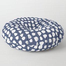 Dots / Navy Floor Pillow