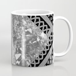 Moon and Lace Collage in Black and White Coffee Mug