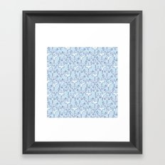 Blue Cranes Framed Art Print