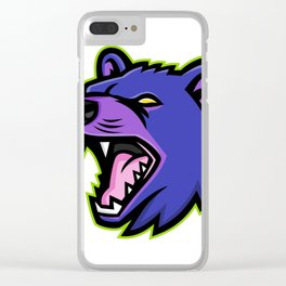 Tasmanian Devil Head Mascot Clear iPhone Case