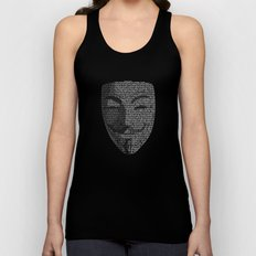 ...You May Call Me 'V' – So who's Anonymous? Unisex Tank Top